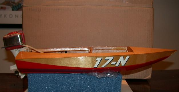 ... boat made by Scott. This one has the racing numbers from the runabout